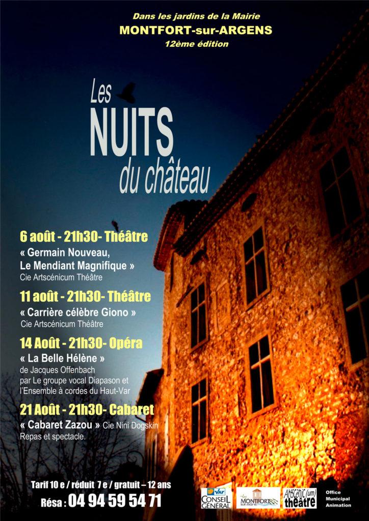 Les Nuits du Château 12e édition