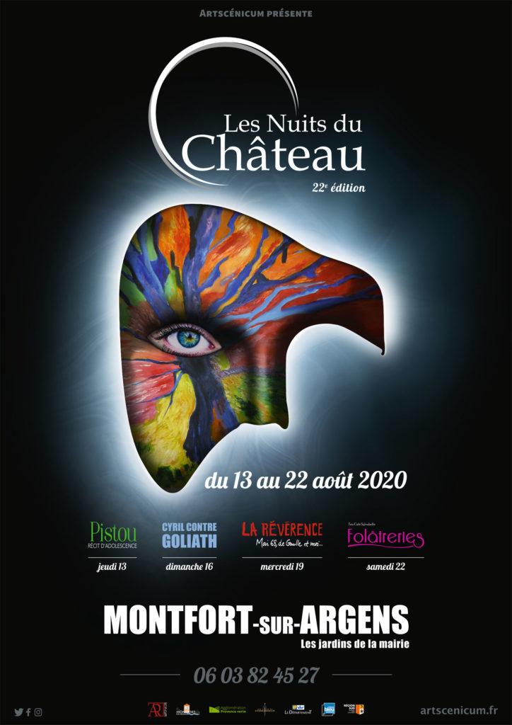 Affiche Les Nuits du Château 2020